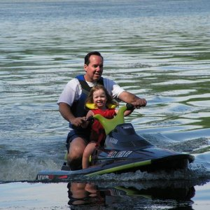 Me & my doughter. her first jet ski ride. she was 3