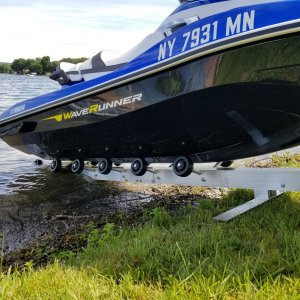 Yamaha on Shore Ramp PWC-50